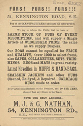 Advert For M. J. & G. Nathan, Clothier